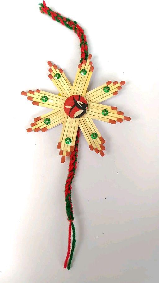 How to make a Matchstick rakhi !! DIY on Tangi